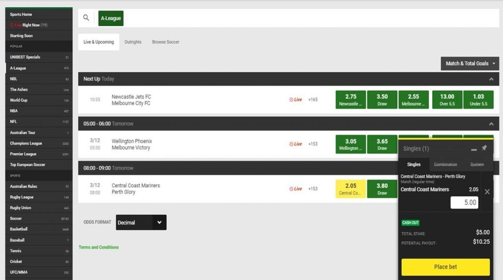 unibet review enter the amount you would like to wager