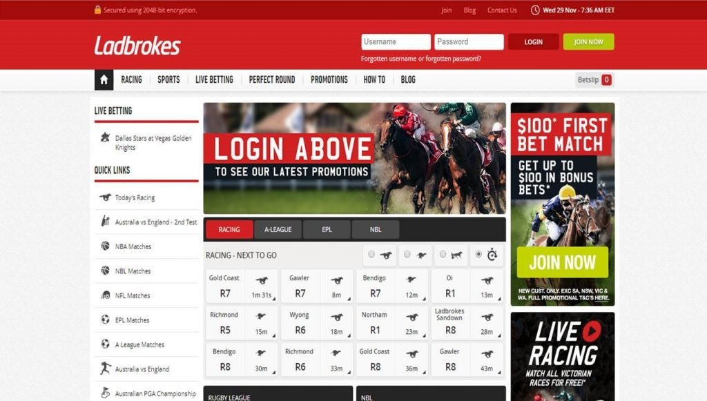 How to open an account at Ladbrokes