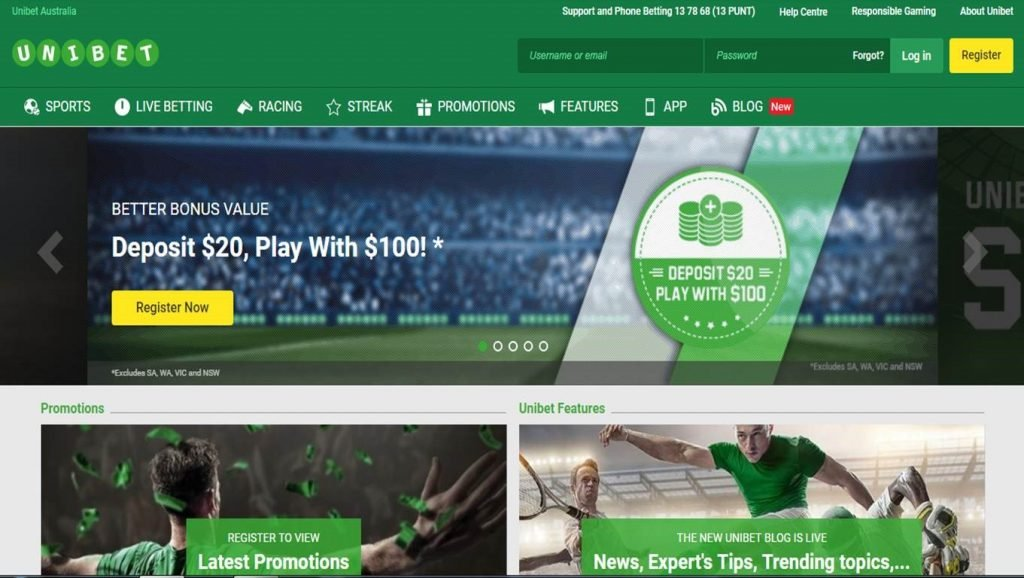 How to place a bet at Unibet