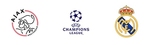 Champions League Round 16 Leg 1/2 Ajax vs Real Madrid