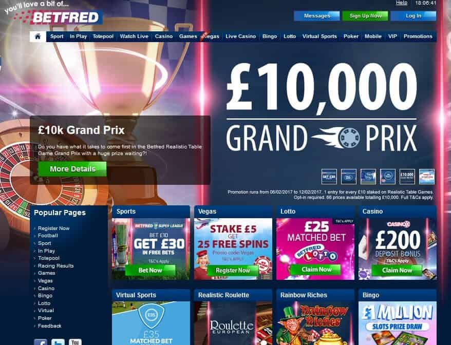 BETFRED site image
