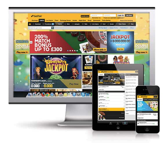 betfair responsive site ie